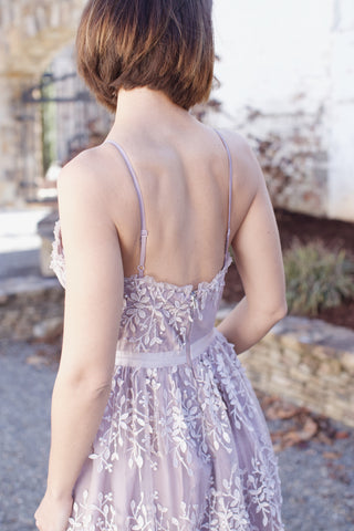Enchanted Embroidery Formal Dress, Light Purple