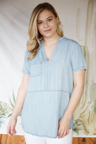 Carin Chambray Top, Denim