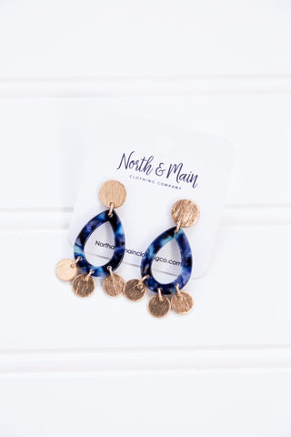 Neptune's Tears Acrylic Earrings, Blue/Multi