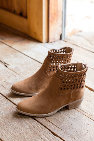 Mara Leather Bootie, Burnt Bronze | Rebels
