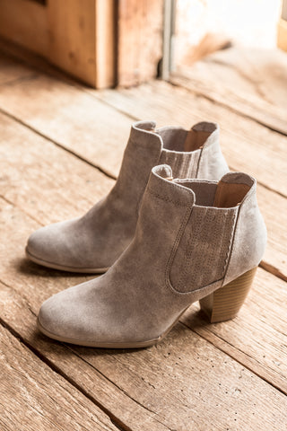 Chelsea Distress Bootie, Taupe