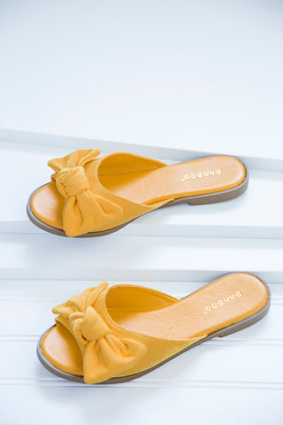 Hippie Slide Sandal, Yellow