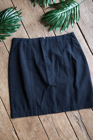 Denim Mini Skirt, Black | Women's Skirts