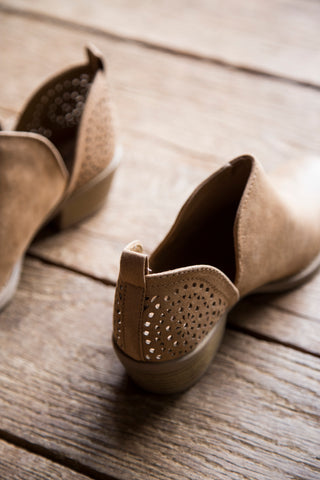 Sochi Perforated Bootie, Camel