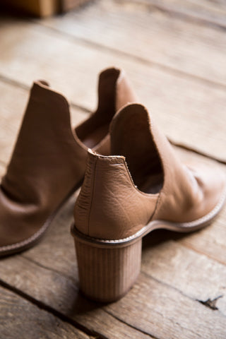 Carlita Cow Leather Pee Toe Bootie, Honey Brown | Chinese Laundry
