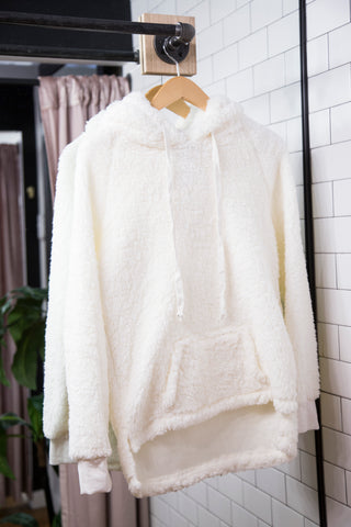 Pippa Fleece Pullover, Cream