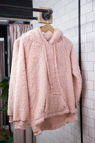 Pippa Fleece Pullover, Blush
