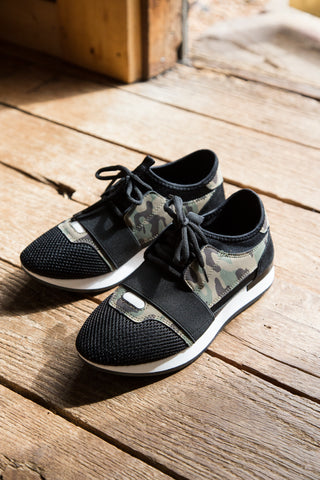 Oshton Lace Up Sneaker, Camo/Black