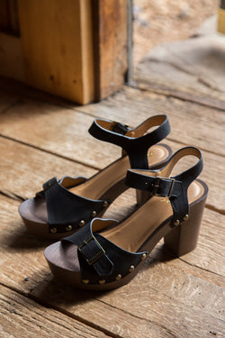 Beekler Buckle Heel, Black | Women's Shoes