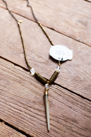 The Nash Necklace, Gold Taupe Betsy Pittard Designs