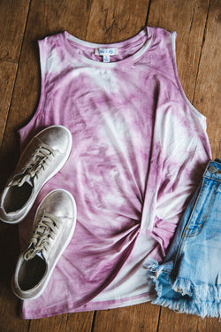 Be Your Forever Tie Dye Top, Pink