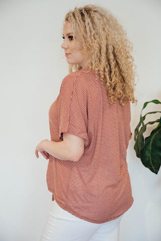 Red Clay Road Striped Top, Red Clay | Women's Plus Size