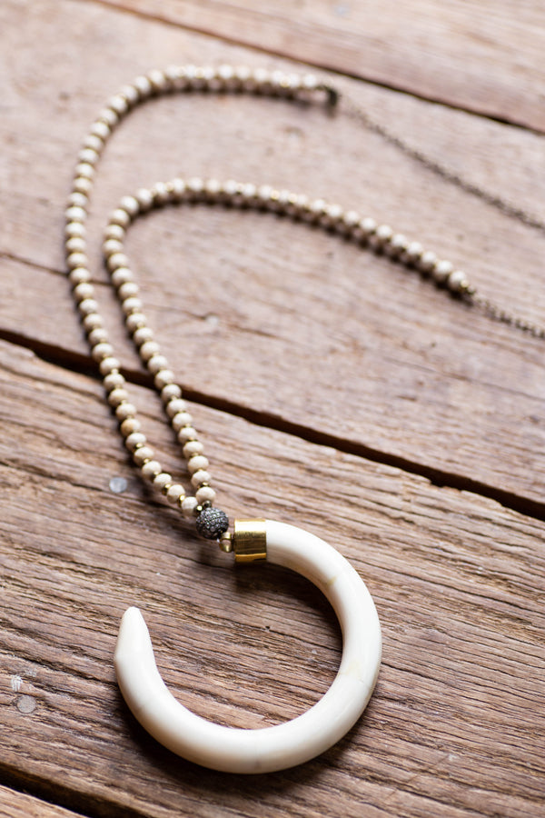 The Colby Necklace, Cream | betsy pittard designs
