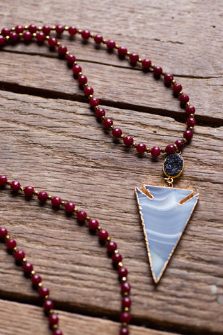 The Chrissy Necklace, Burgundy | Betsy Pittard Designs