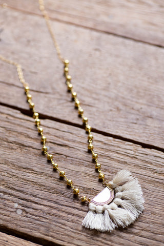 The Gabrielle Necklace, Cream by Betsy Pittard Designs