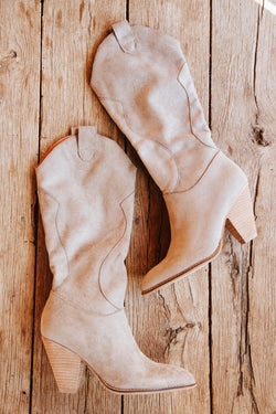 Bohemian Western Boot, Taupe