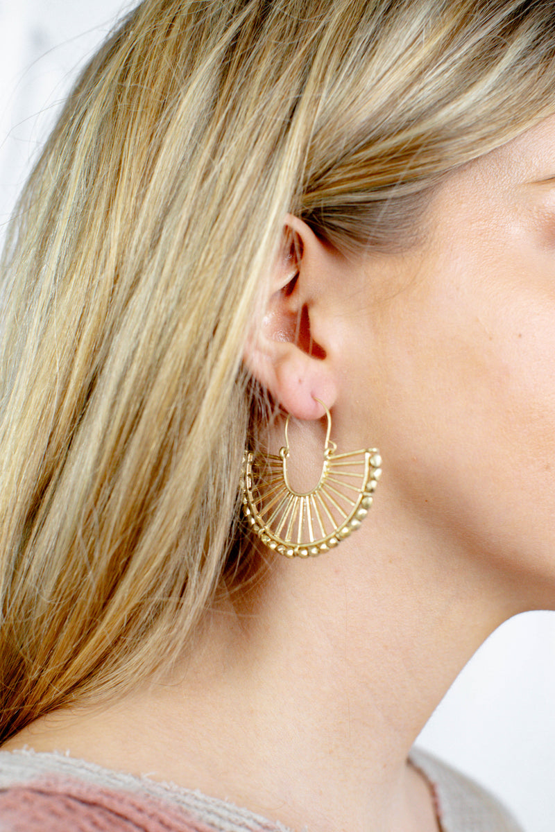 Half Circle Earring, Gold