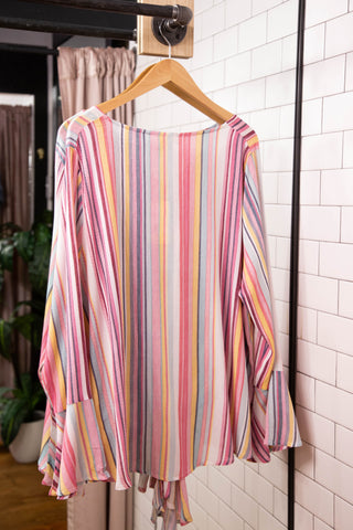 Hang On Blouse, Pink Multi