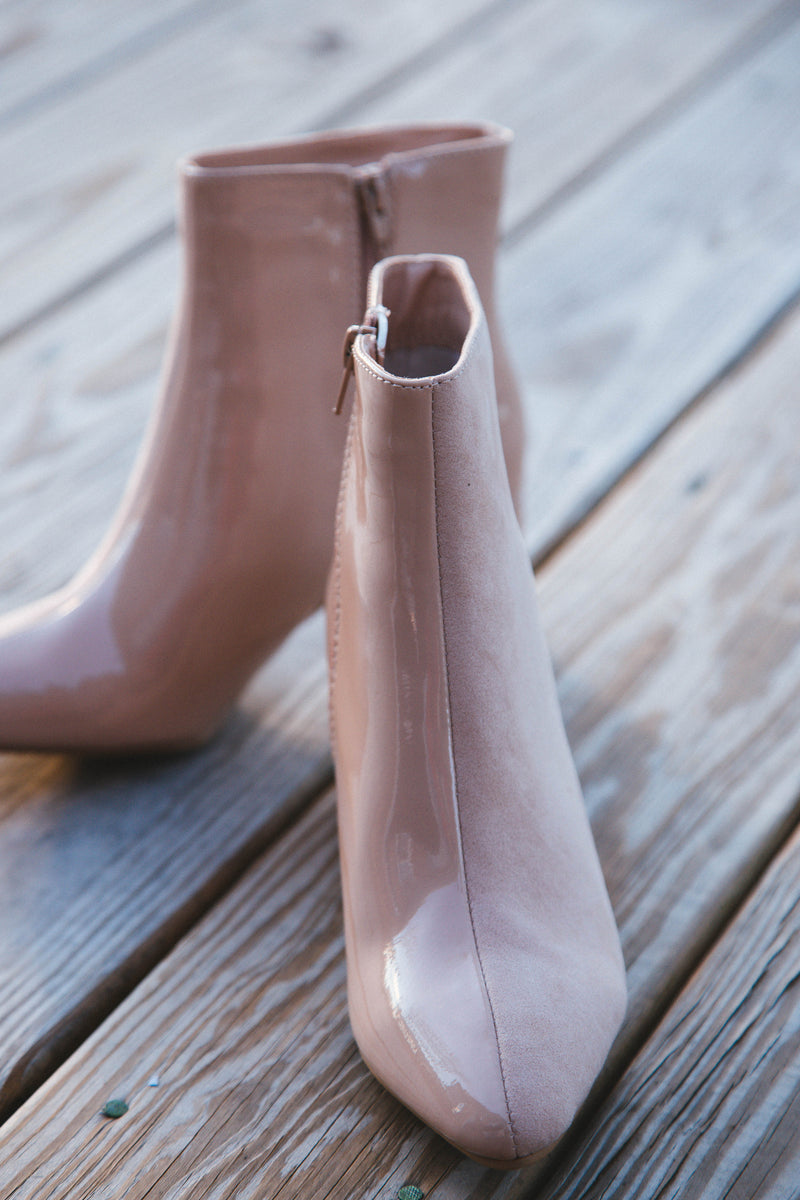 Rapid Two Tone Bootie, Nude/Nude