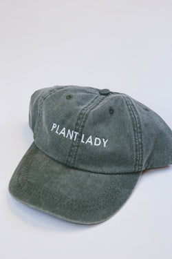 Plant Lady Baseball Hat, Olive