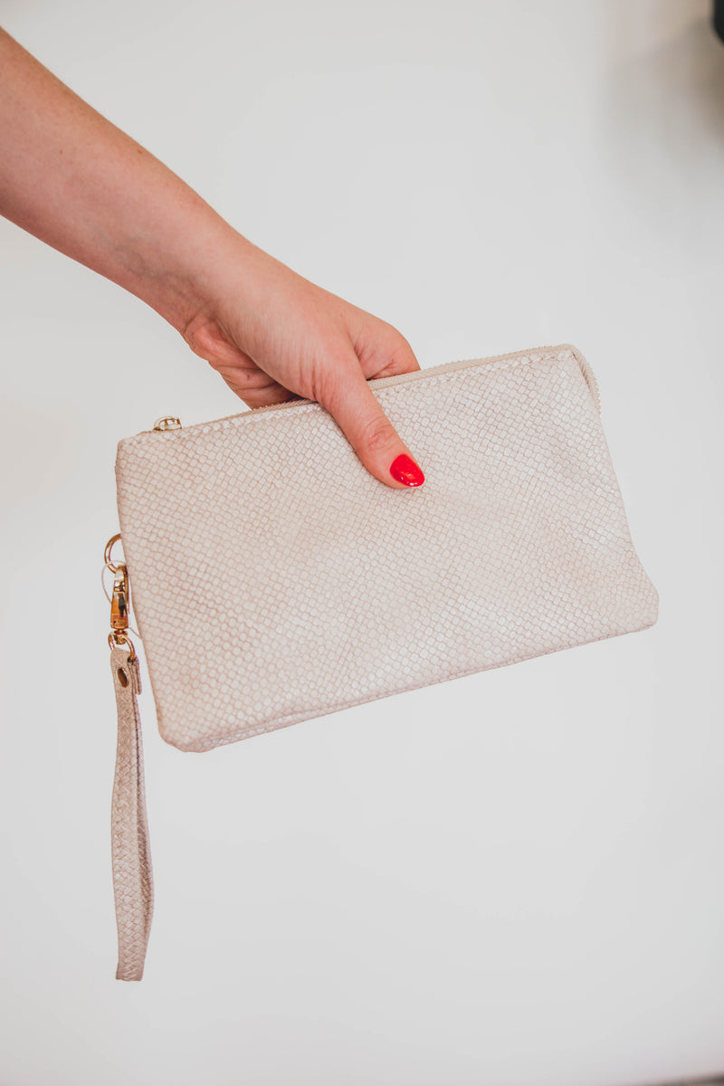 Liz CrossBody Clutch, Blush