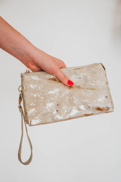 Liz Custom Collection CrossBody Clutch, Tan | Fashion Accessories
