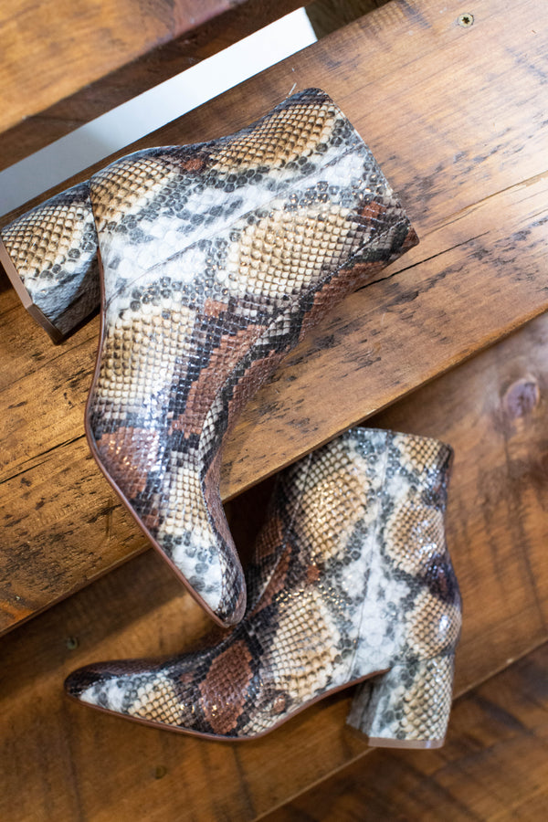 Davina Short Boot, Snake | Chinese Laundry