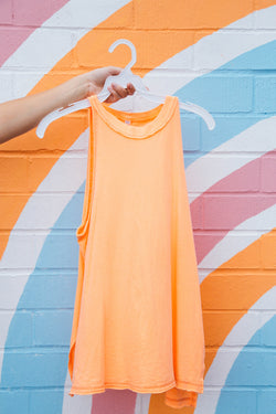 Solid Fade With The Waves Casual Tank, Light Orange | Free People
