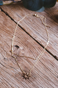 Sophia Sun Layered Chain Necklace, Gold