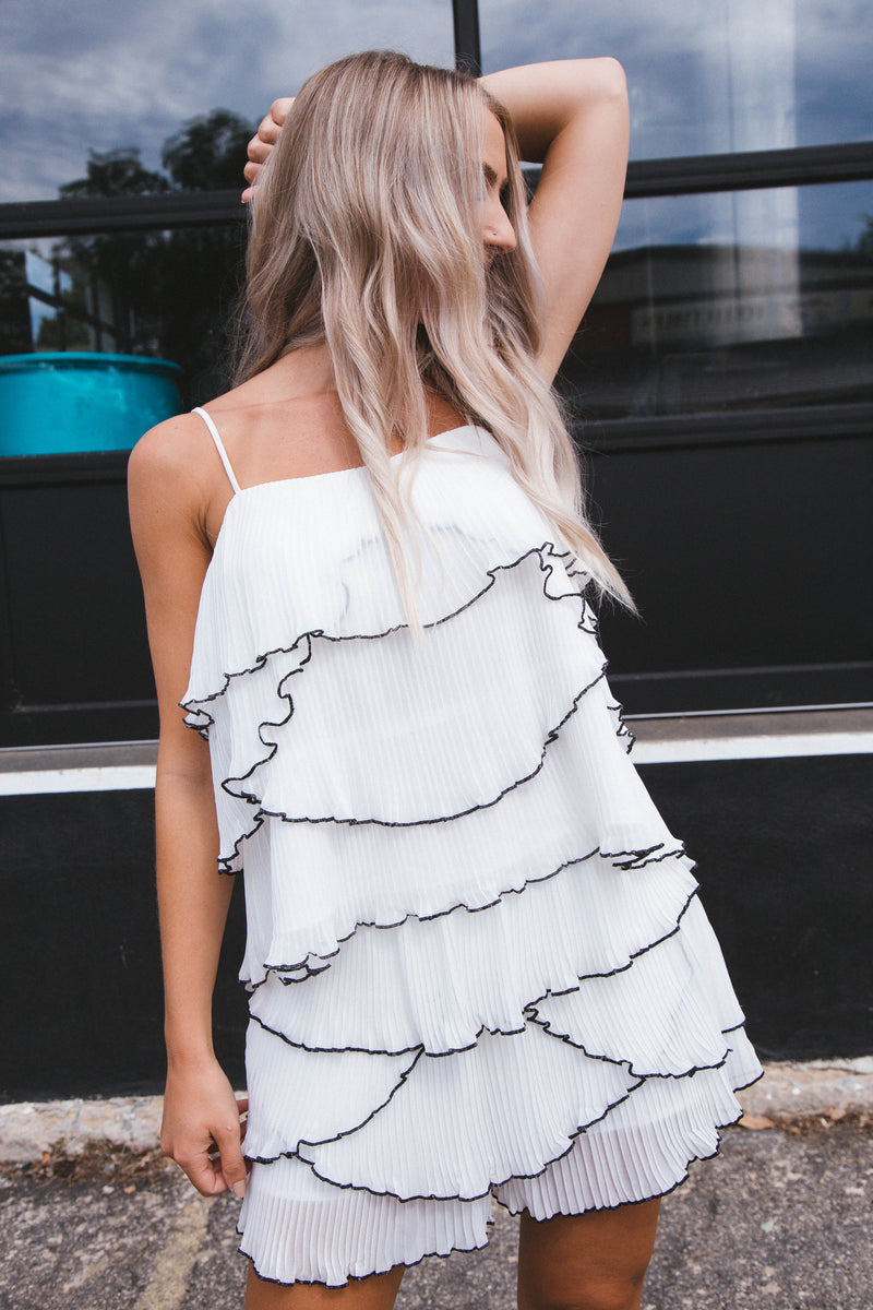 Thinking About Forever Ruffle Cami Top, White | Endless Rose