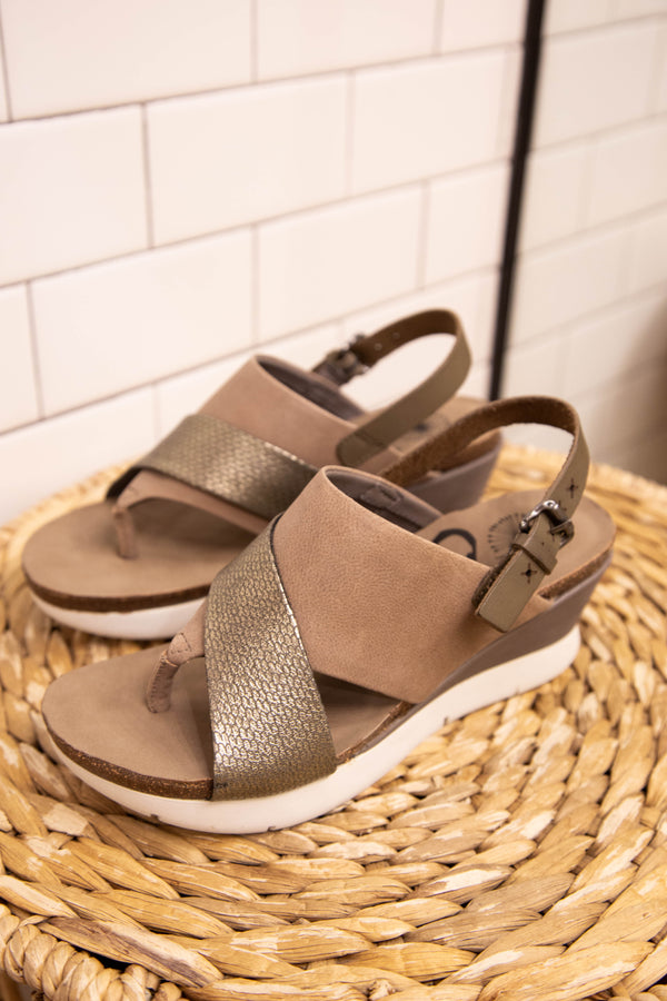 In Focus Wedge Sandal, Zinc | OTBT | Women's Name Brand Shoes