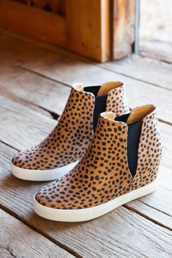 Aspen Hidden Wedge Sneaker, Leopard