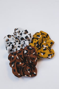 Catch Me If You Can Scrunchie, Leopard Multi