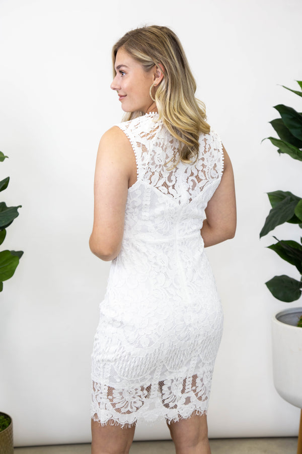 Summer Charming Lace Dress, Off White