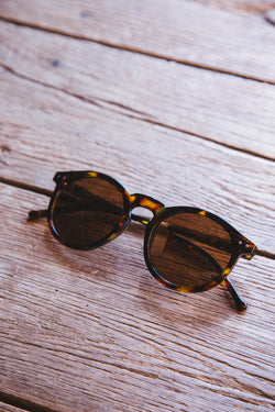 Miss Me Plastic Frame Sunnies, Antique Tortoiseshell