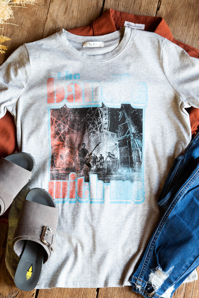 The Band's With Me Graphic Tee, Heather Grey