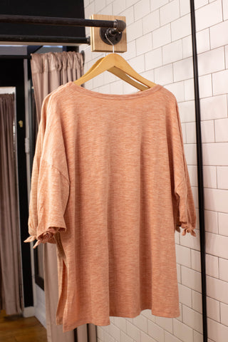 The Wednesday Tee Top, Apricot | Plus Size