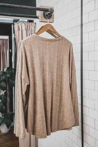 Chai Kangaroo Pocket Sweater, Mauve