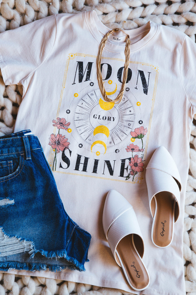 Moon Glory Shine Graphic Tee, Natural