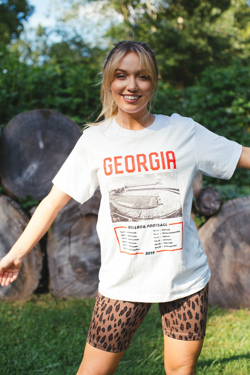 UGA Stadium Graphic Tee, White