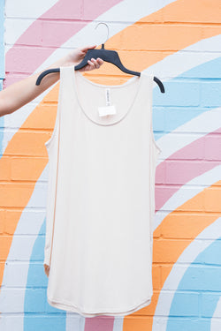 Time After Time Tank, Taupe | Plus Size