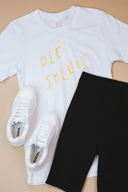 Ole Soleil Graphic Tee, White
