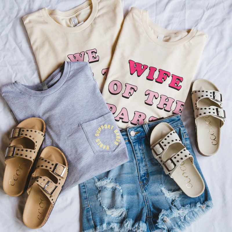 Wife Of The Party Graphic Tee, Cream
