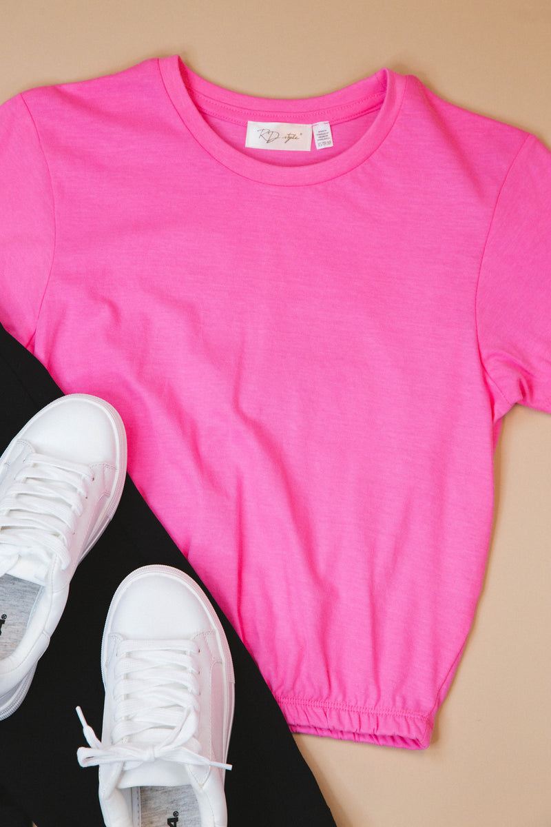Someone New Round Neck Tee, Pink | RD Style