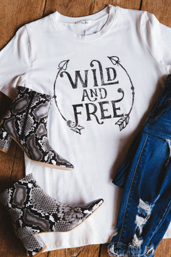 Wild and Free Graphic Tee, Ivory