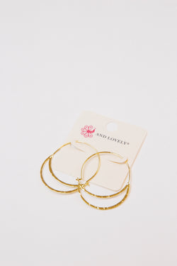 Kylie Earrings, Gold