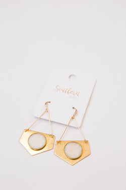 Emilia Earrings, Gold