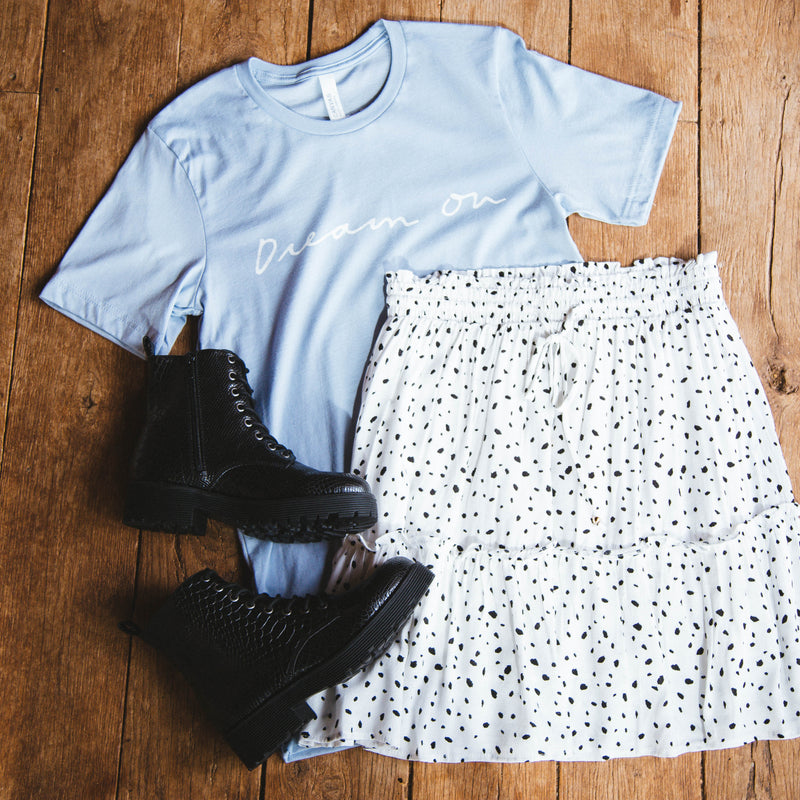 Dream On Graphic Tee, Light Blue