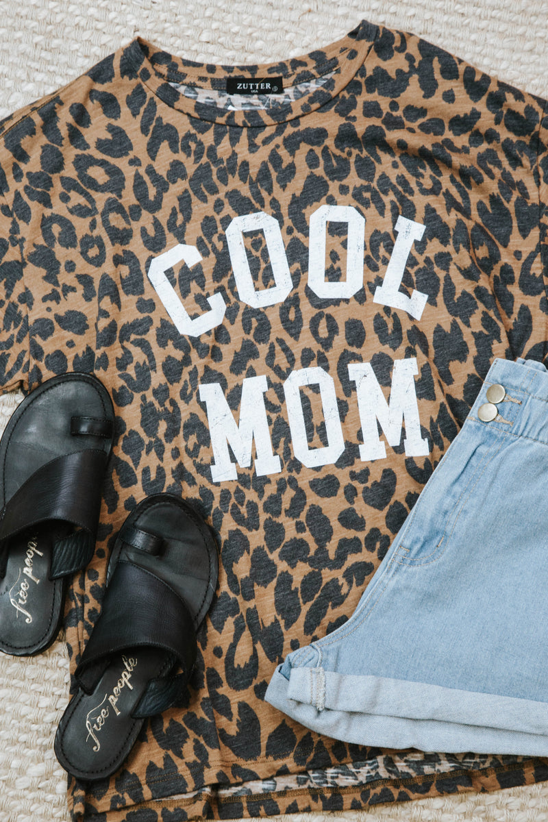 Cool Mom Animal Print Tee, Brown Multi | Extended Sizes Available