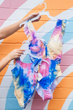 Beyond the Sea Kids One Piece Tie Dye Swimsuit, Tie Dye